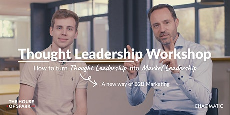 Thought leadership workshop tickets