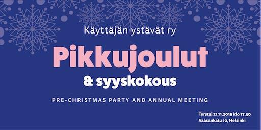 Pikkujoulut ja syyskokous – Pre-Christmas Party and Annual Meeting | KäY