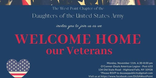 Welcome Home Our Veterans!