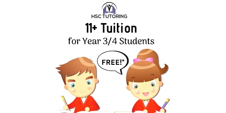 FREE 11+ Tuition - Year 3/4 Students tickets