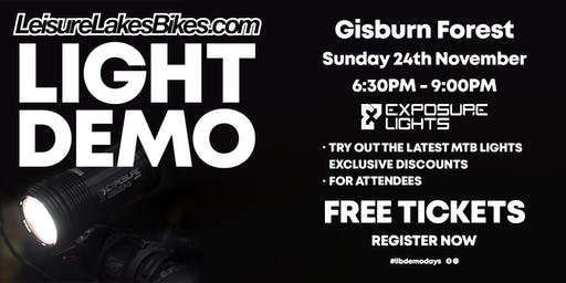 Exposure Light Demo @ Gisburn - Leisure Lakes Bikes Southport
