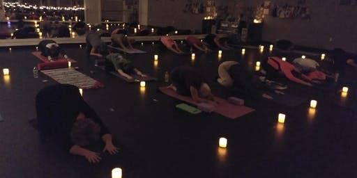 Gratitude Candle Light Yoga Let's Give Thanks
