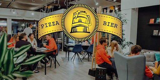 Pizza, Bier & spannende Gespräche