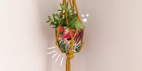 Lucy and Yak Presents: Macrame Plant Pot Holders for Beginners! tickets