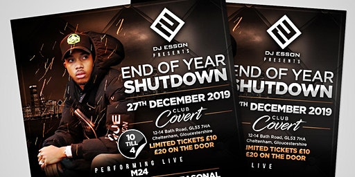 END OF YEAR SHUTDOWN - M24 PERFORMING LIVE!