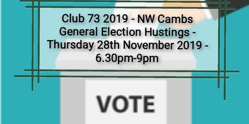 NW Cambs GE 2019 hustings for adults with learning & /or social disabilities