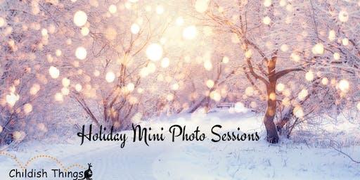 November 26th--Holiday Mini Photo Session at Childish Things