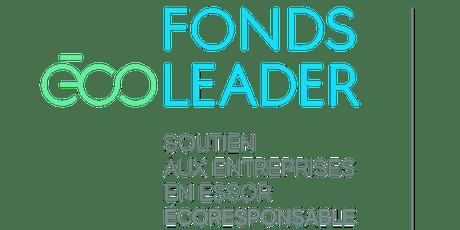 Lancement régional (Mauricie) - Fonds Écoleader billets
