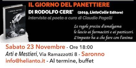 Il giorno del panettiere - Presentazione Silloge Poetica Rodolfo Cerè biglietti