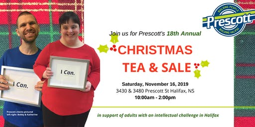 Christmas Tea & Sale (in support of adults with an intellectual challenge)