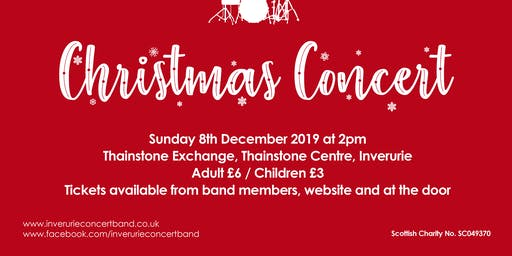 Inverurie Concert Band, Christmas Concert