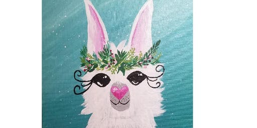 Paints & Pints at 7 Dogs Brew Pub - No Holiday Drama Llama w/ Abby Wilner