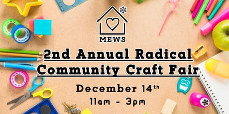 2nd Annual Radical Community Craft Fair - Vendor Registration tickets