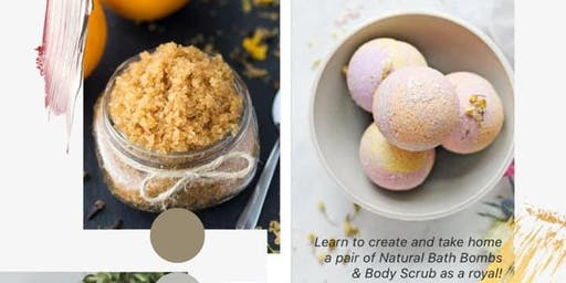 Fizzy Bath Bombs and Body Scrub Workshop