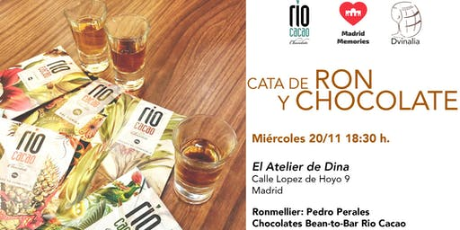 Cata de Ron & Chocolate Bean-to-bar en Madrid