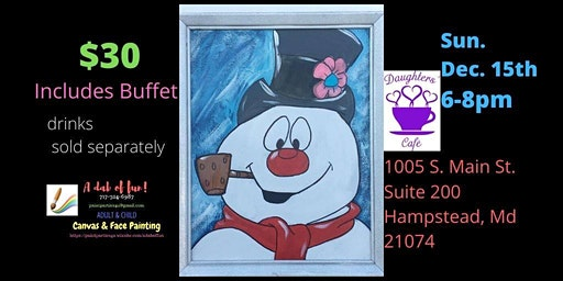 Frosty Paint Event Daughter's Cafe of Hampstead