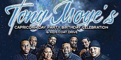 Tony Moye's Capricorn Day Party and Kids Coat Drive tickets
