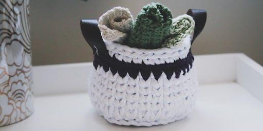 Crochet Washcloths & Spa Basket