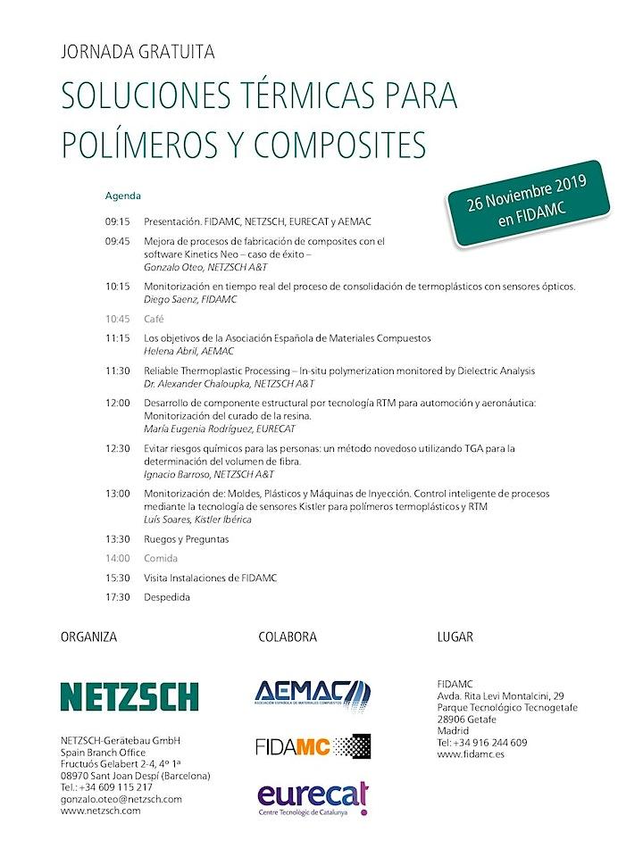 Imagen de Soluciones Térmicas para Polímeros y Composites - Segunda Jornada