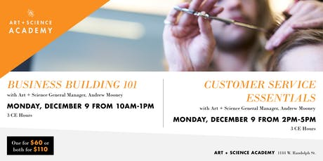 Build Your Salon Business - Art + Science Academy - 6 CE Hours tickets