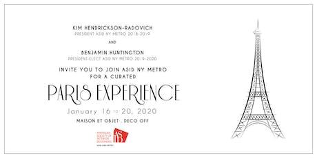 2020 ASID NY Metro Paris Experience billets