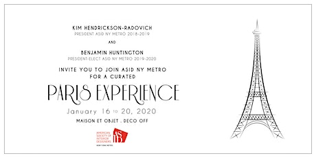 2020 ASID NY Metro Paris Experience tickets