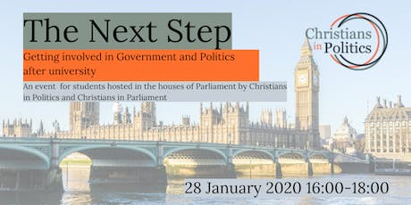 The Next Step: Getting involved in Government & Politics after university tickets