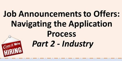 Job Announcements to Offers - Part 2 Industry