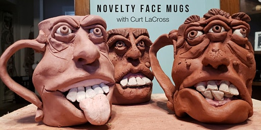 SOLD OUT - Novelty Face Mugs with Curt LaCross
