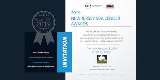 2019 SBA New Jersey Lender Awards
