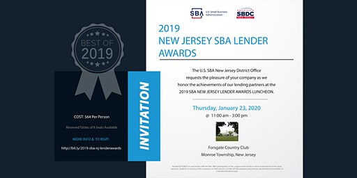 2019 SBA New Jersey Lender Awards