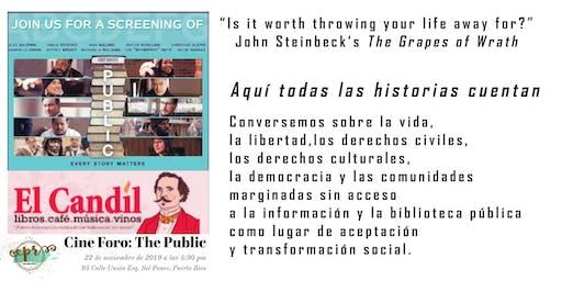 Cine Foro The Public en la Librería El Candil