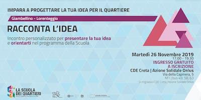 Racconta l'idea @Giambellino-Lorenteggio