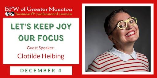 BPW Moncton December Holiday Celebration with Clotilde Heibing