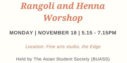 Our World Week: Rangoli and Henna Workshop