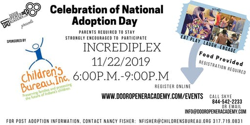 National Adoption Month Celebration @ Incrediplex