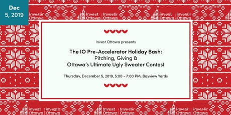 The IO Pre-Accelerator Cohort 5 Pitch Finale: Pitching & Gifting - The Ultimate Holiday Bash! tickets