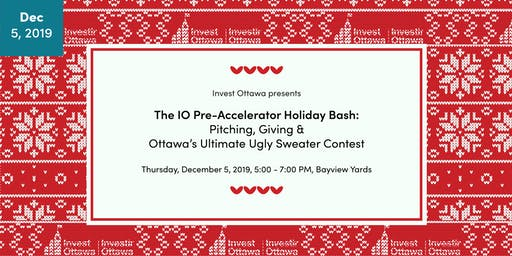 The IO Pre-Accelerator Cohort 5 Pitch Finale: Pitching & Gifting - The Ultimate Holiday Bash!
