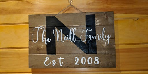 Family or Thankful Board Craft at The Winery