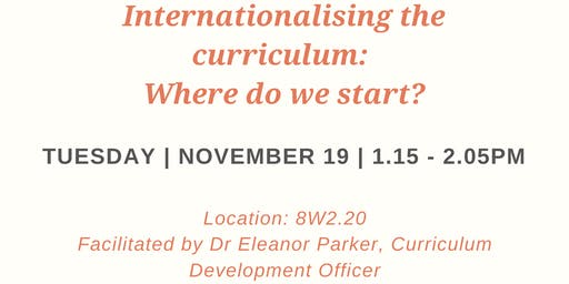 Our World Week: Internationalising the curriculum: where do we start?