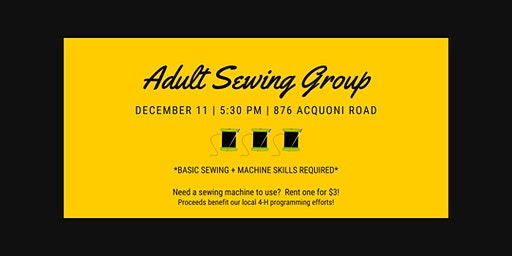 Adult Sewing Group