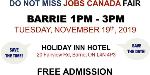 Barrie Job Fair – November 19th, 2019