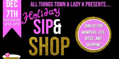 Vendor Registration for All Things Town & Lady K Holiday Sip-n-Shop
