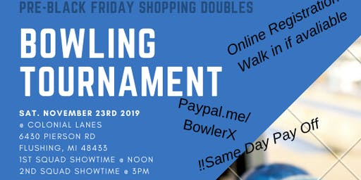 Pre Black Friday Shopping Bowling Tournament