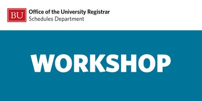 Schedules Workshop: Final Exams