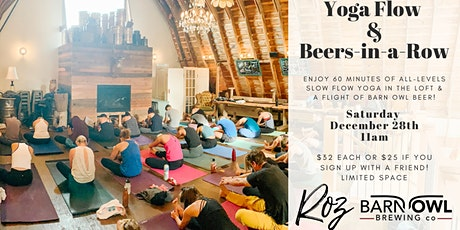 Yoga Flow & Beers-in-a-Row tickets