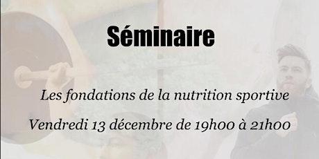 Les fondations de la nutrition sportive par Innovation Nutrition billets