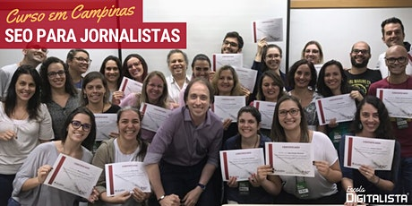"""Curso """"SEO para jornalistas"""" em Campinas - Turma 10 ingressos"""