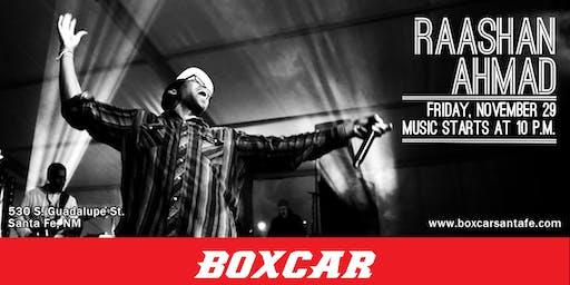 Raashan Ahmad at Boxcar