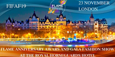 FLAME ANNIVERSARY AWARDS & GALA FASHION SHOW AT THE ROYAL HORSEGUARDS HOTEL tickets
